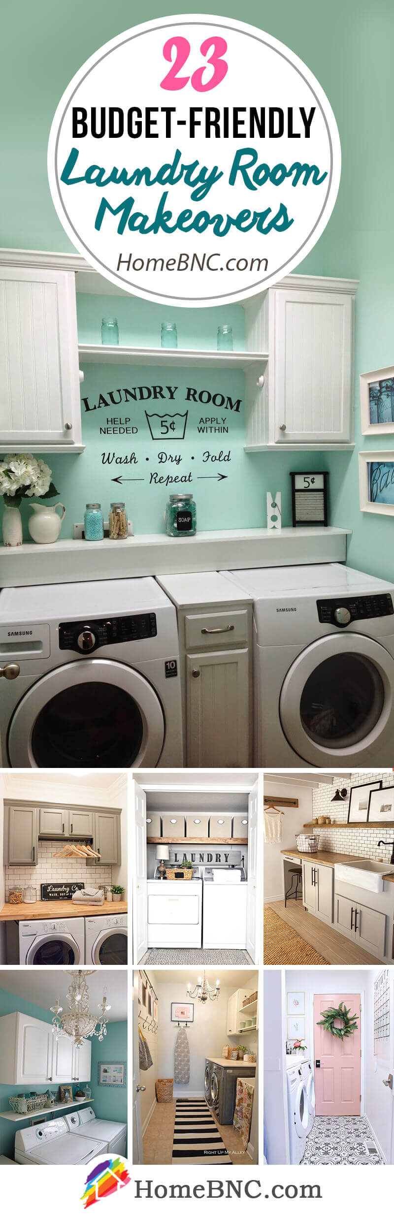 Budget Friendly Laundry Room Makeover Decor Ideas