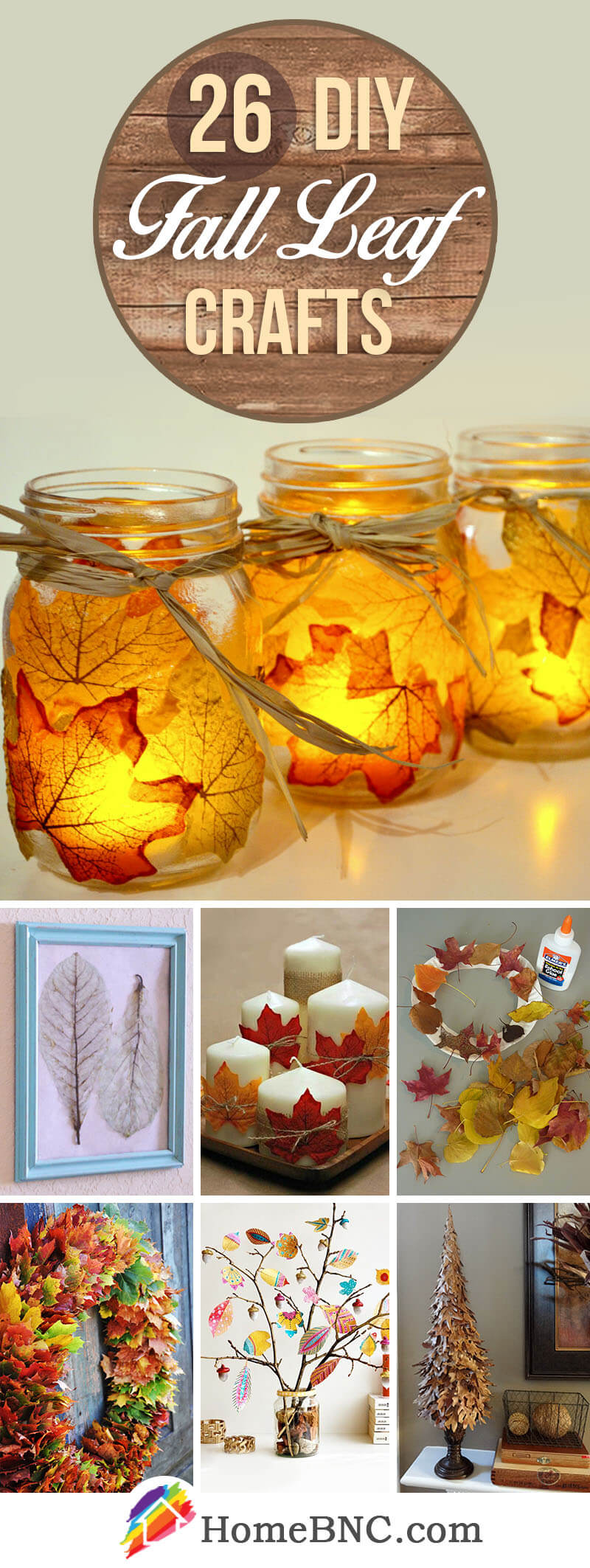 DIY Fall Leaf Craft Decor Ideas