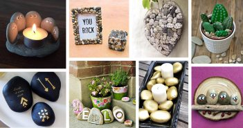 DIY Pebble and River Rock Home Decor Ideas