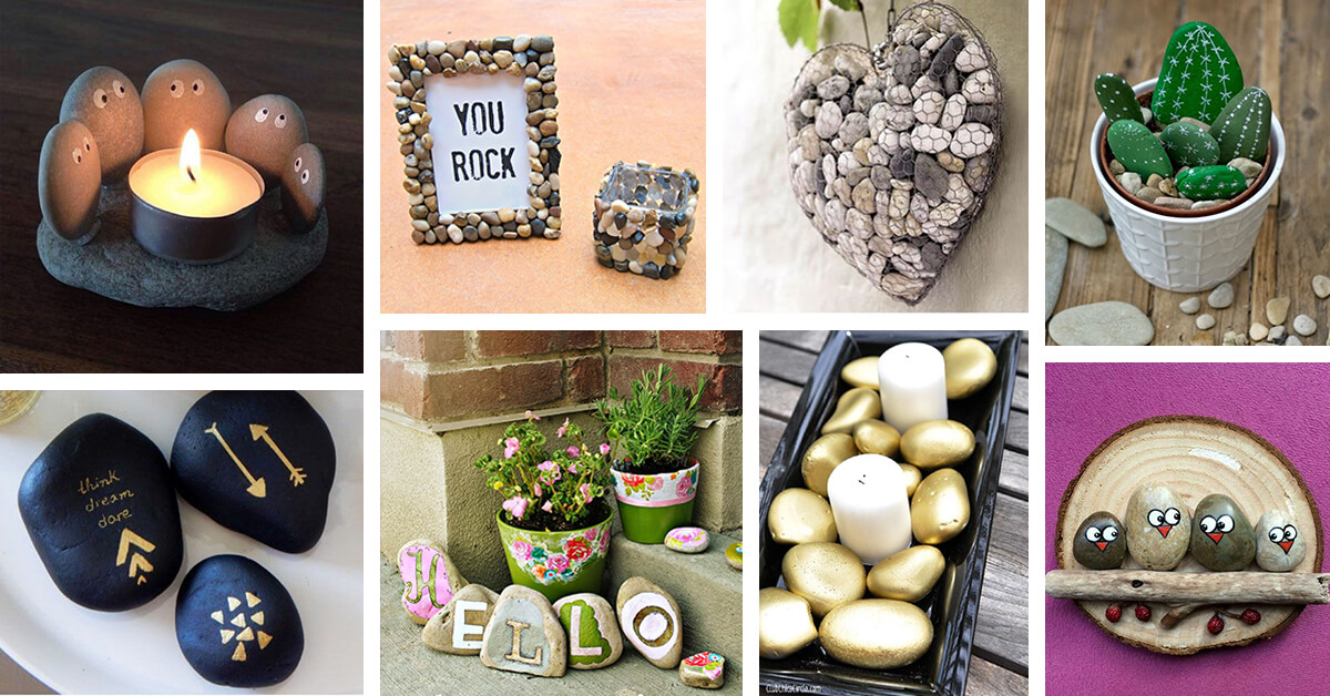 27 Best DIY Pebble and River Rock Decor Ideas and Designs ...
