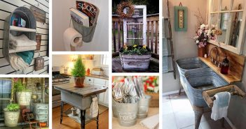 Reused and Repurposed Galvanized Tub and Bucket Ideas
