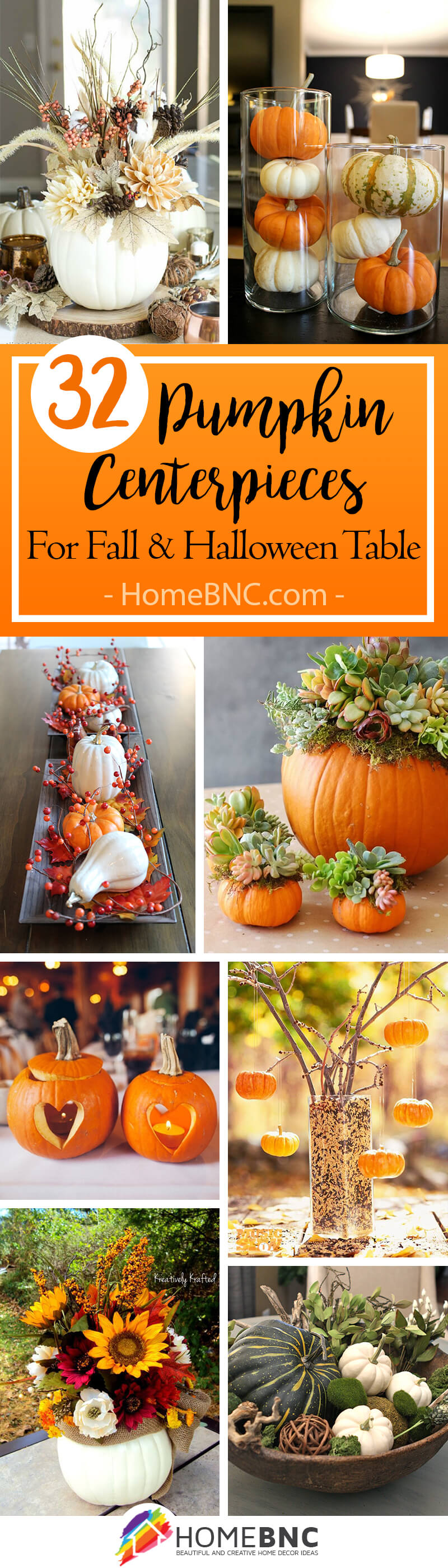 Pumpkin Centerpiece Decor Ideas