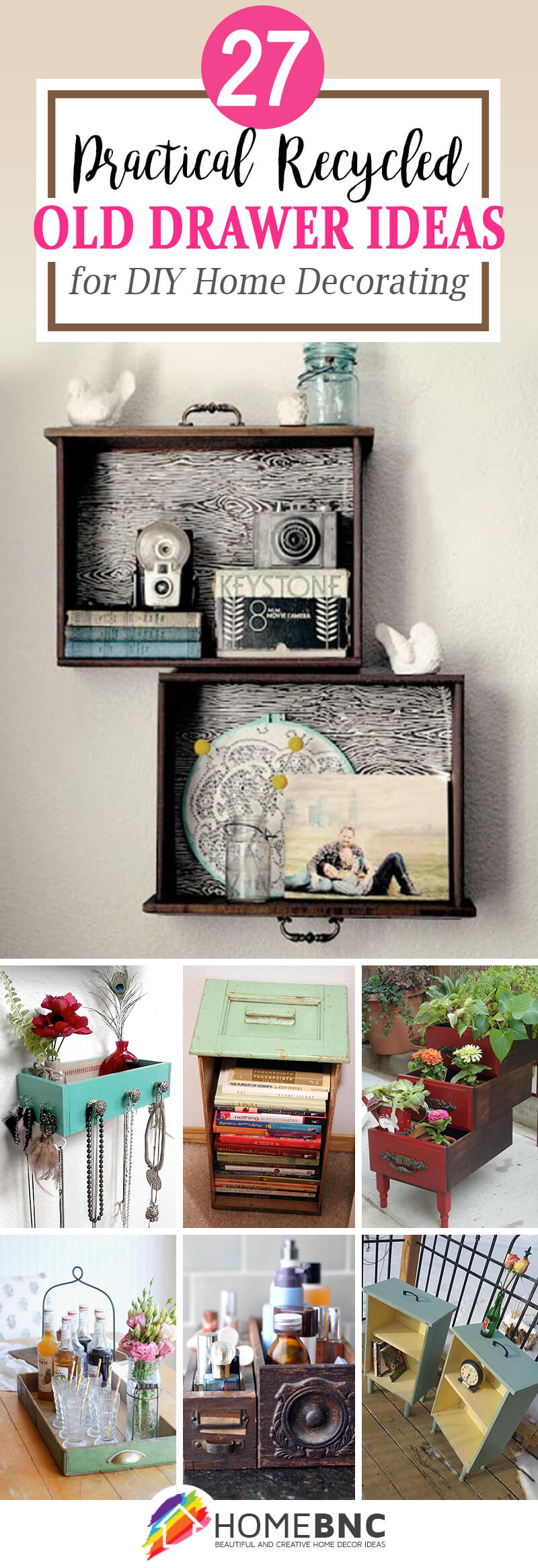 Recycled Old Drawer Projects
