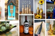 Repurposed DIY Wine Bottle Crafts