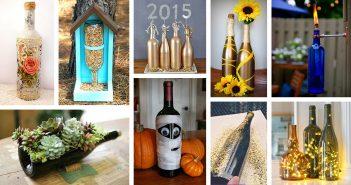 Repurposed DIY Wine Bottle Crafts