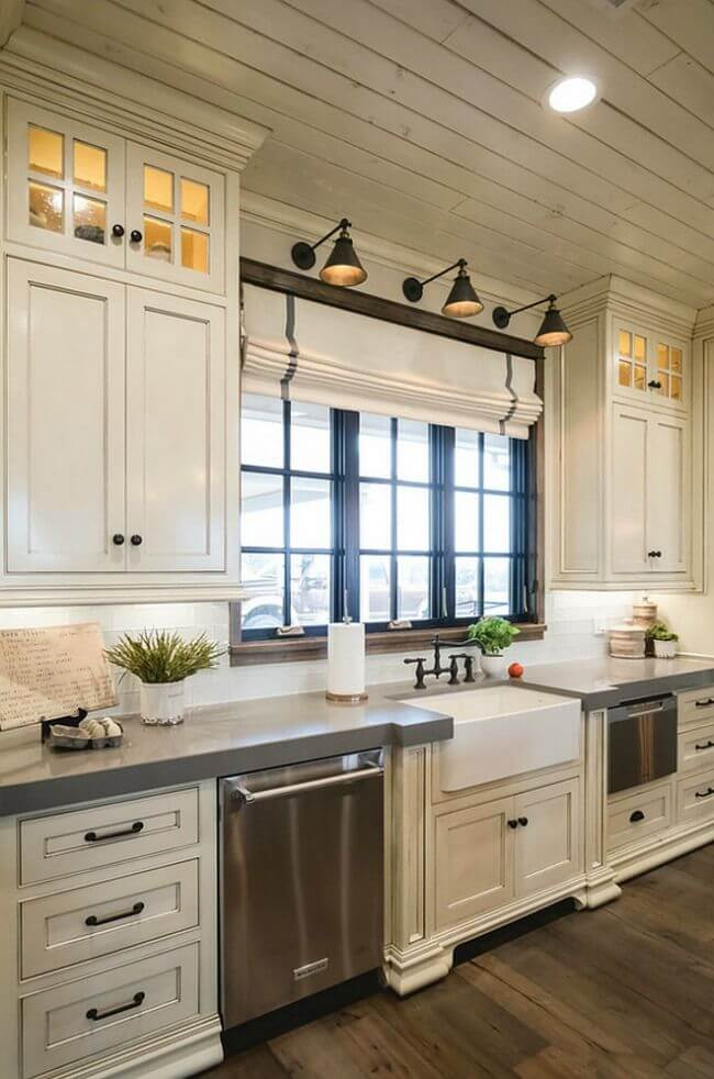 Rustic Wood Stainless Steel Cottage Kitchen : kitchen-ideas - designwebi.com