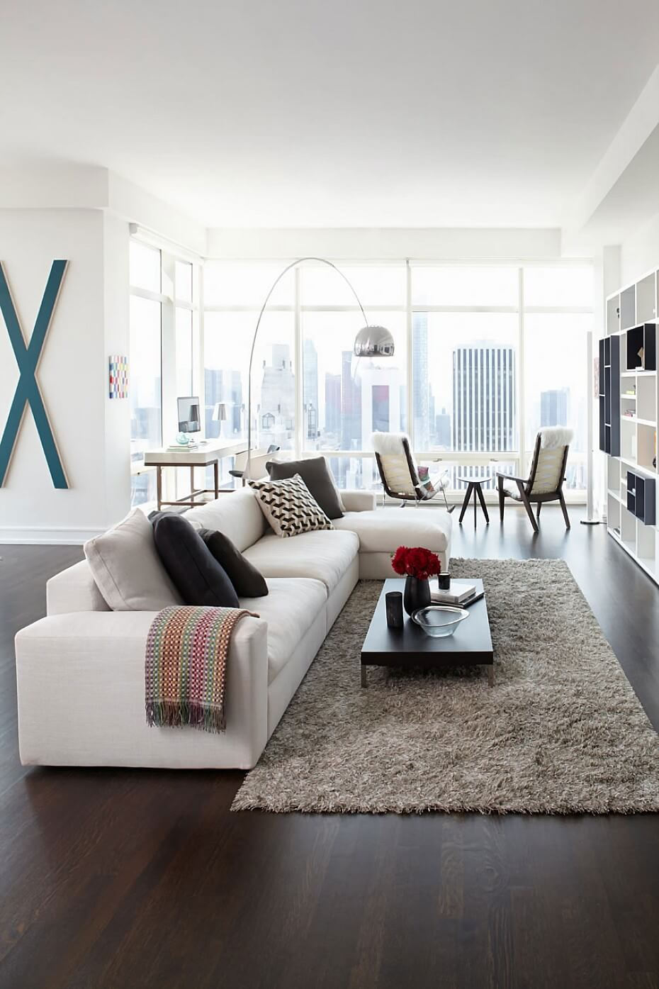 Breezy and Bright Modern Living Room