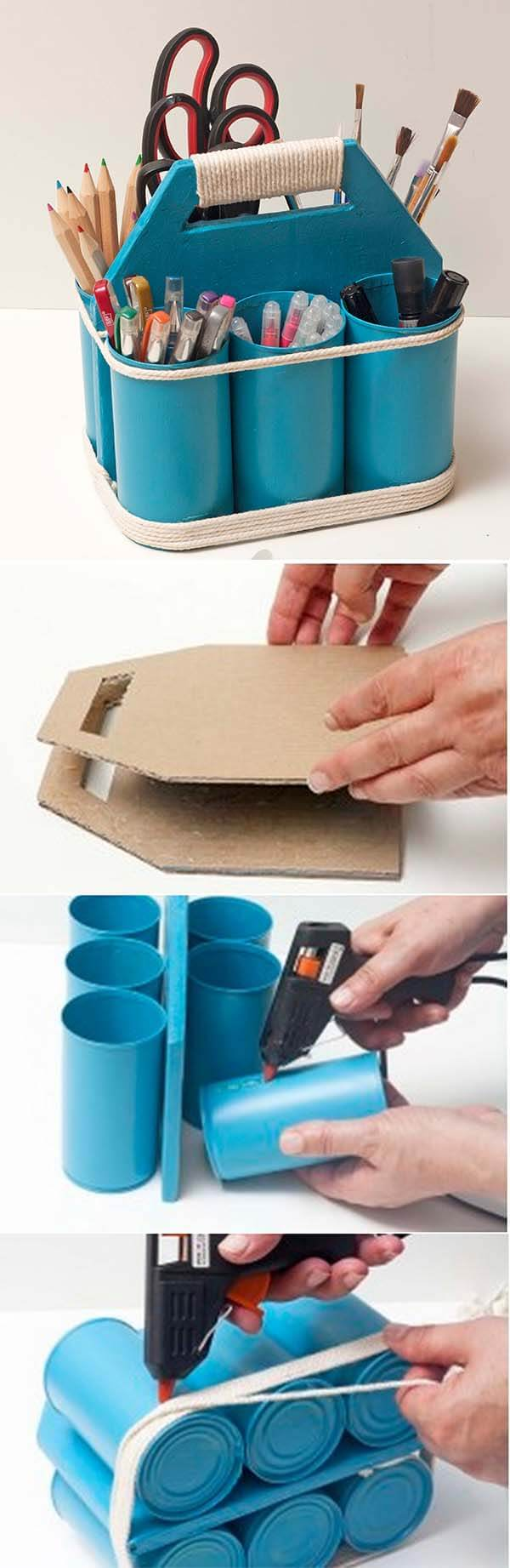 Six Spot PVC Pipe Art Tote