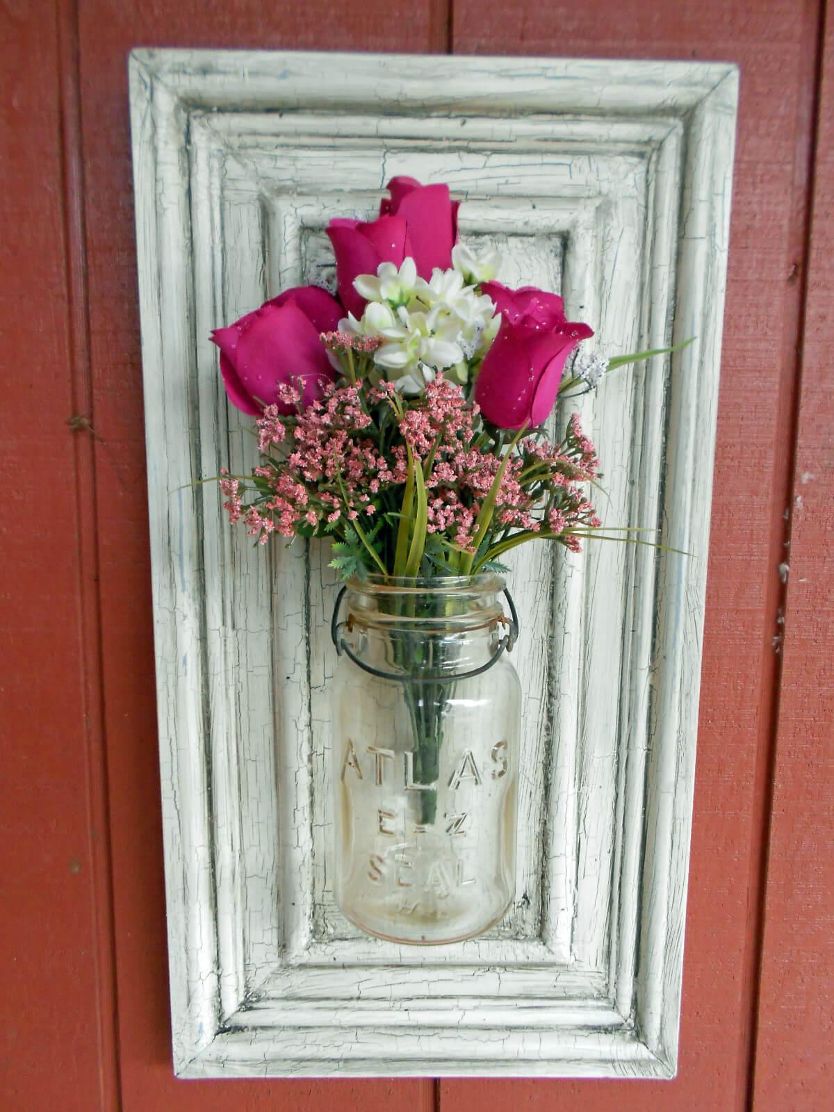 Pretty Simple Canning Jar Flower Pot