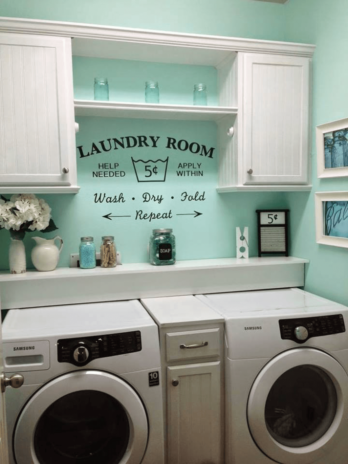 Laundry room design small