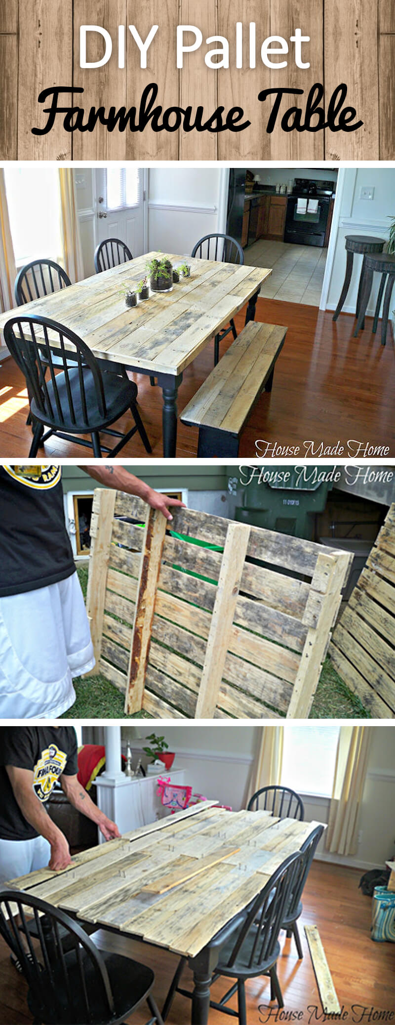 3 Best Rustic DIY Farmhouse Table Ideas and Designs for 3