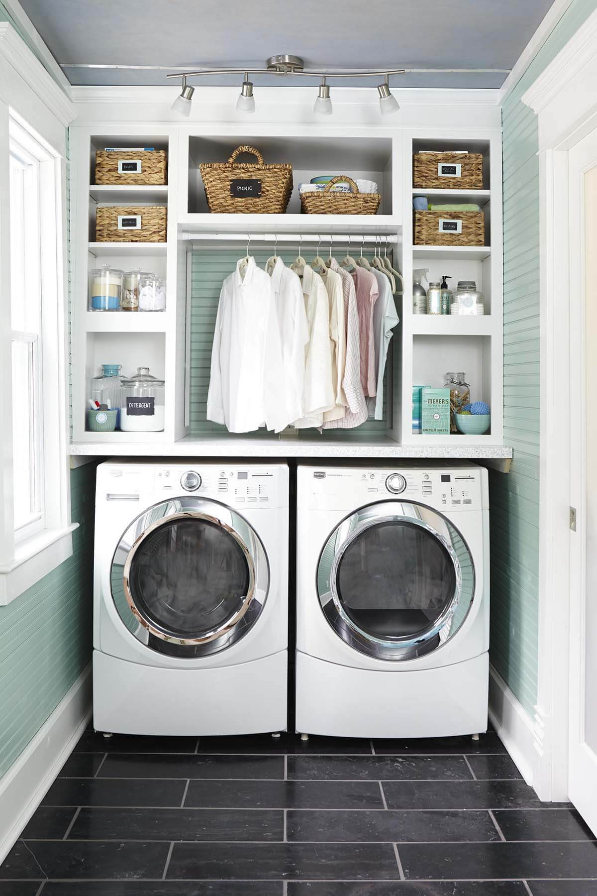 28 best small laundry room design ideas for 2018 for How to add a laundry room to your house