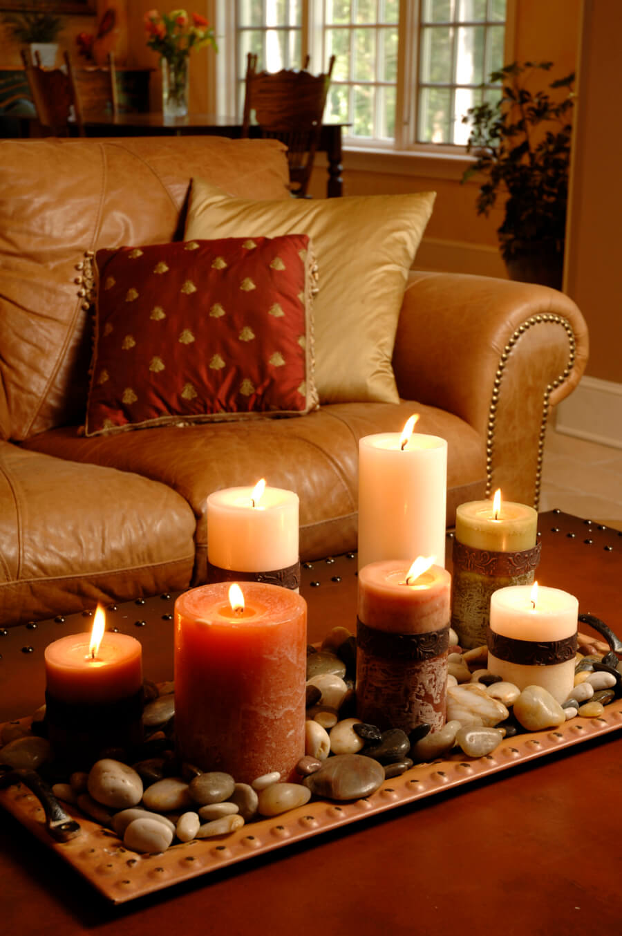Colors Textures Stones and Candles : bedroom-decoration-with-candles - designwebi.com