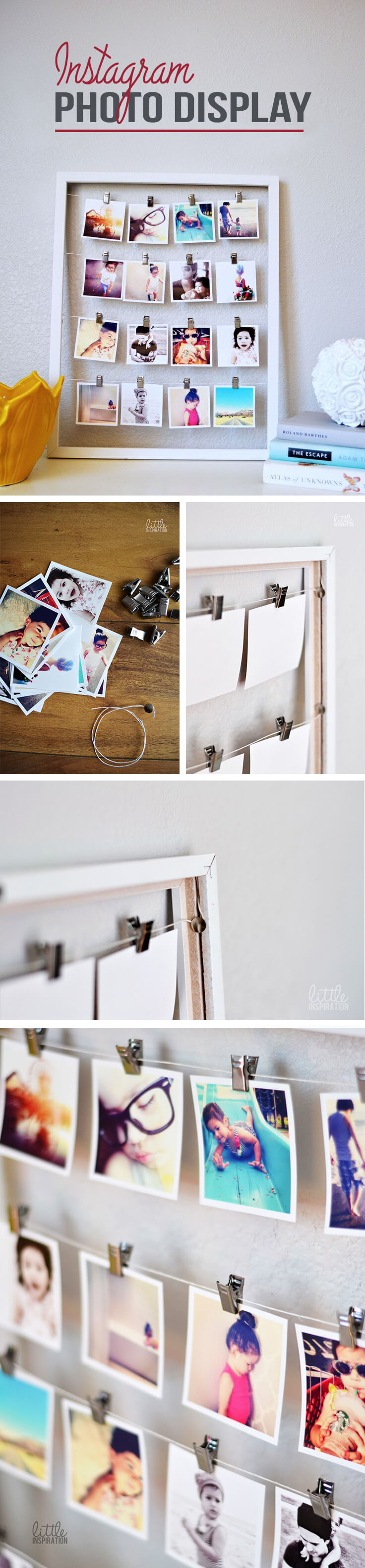 Instagram Photo Display DIY Cozy Bedroom Project