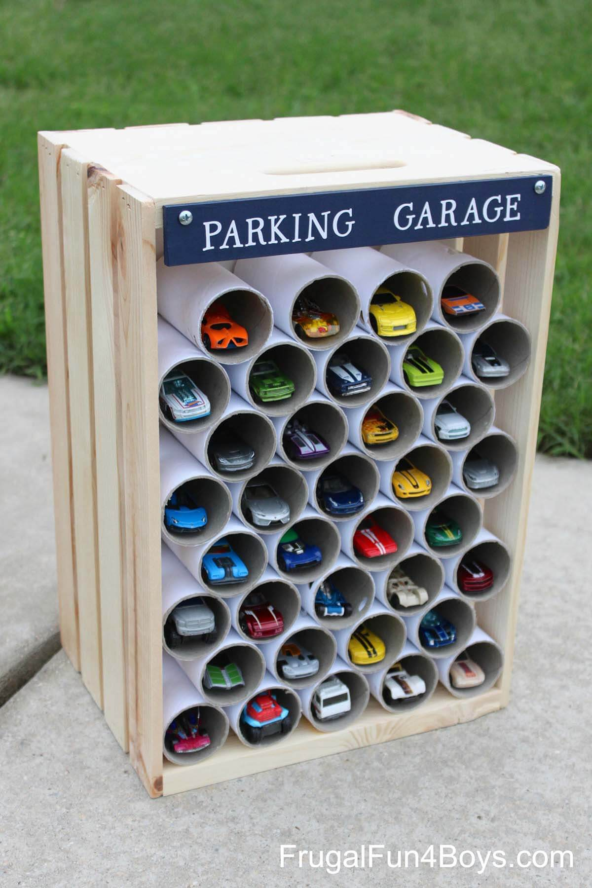 Garage for Toy Car Collectors & 26 Best PVC Pipe Organizing and Storage Projects (Ideas and Designs ...