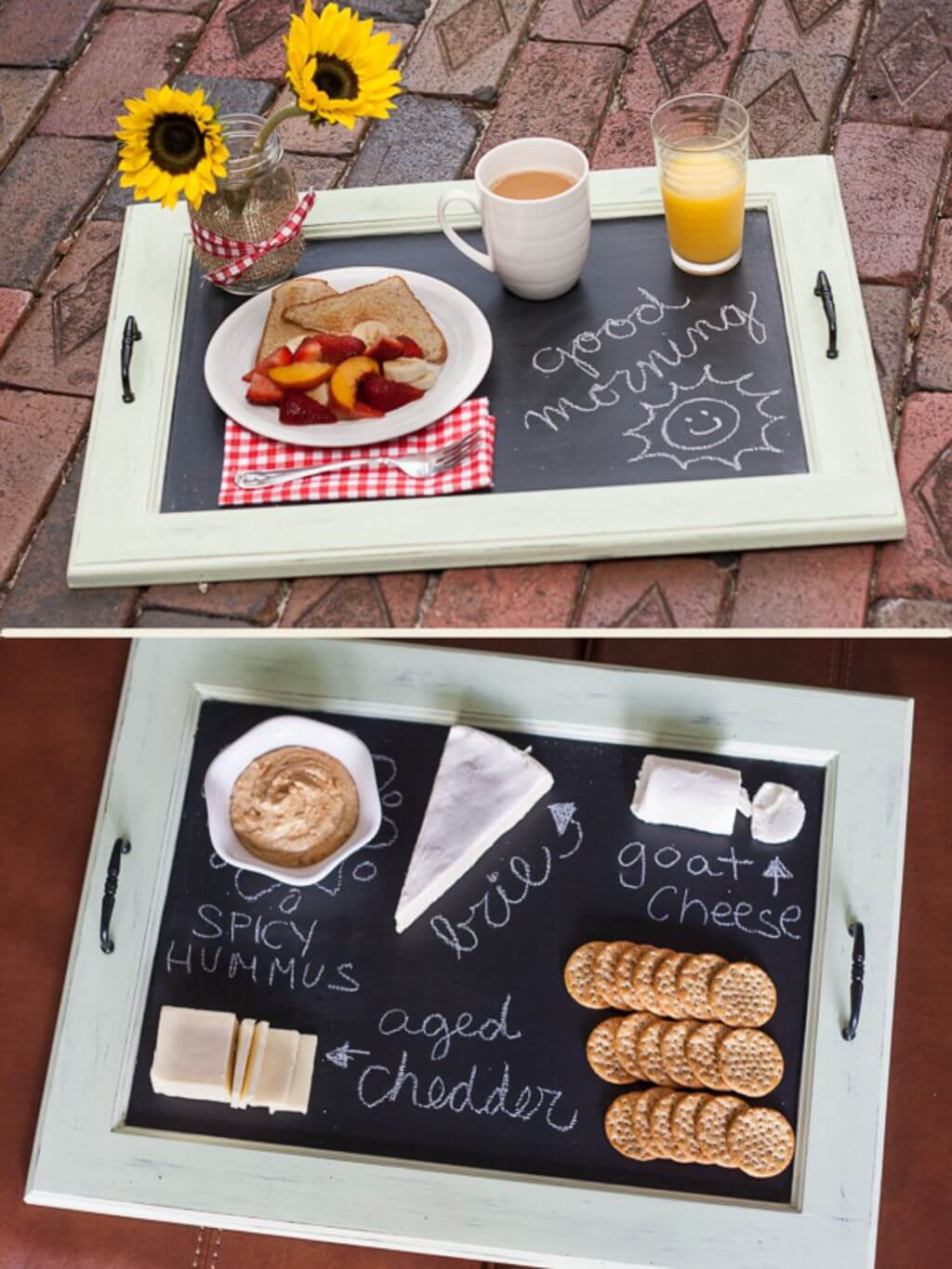 Impress Guests with Chalkboard Serving Tray