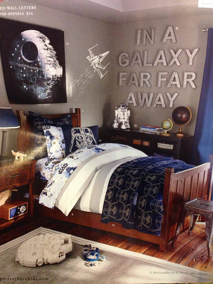 Star wars teenage boy room theme