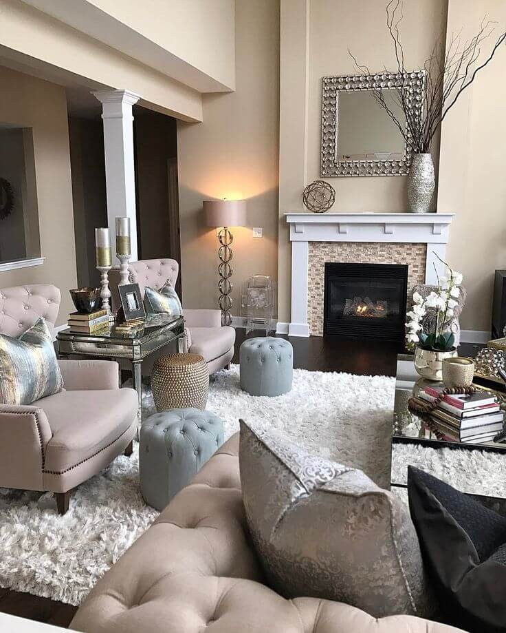 Inspiring Sitting Room Decor Ideas For Inviting And Cozy: 23 Best Beige Living Room Design Ideas For 2019