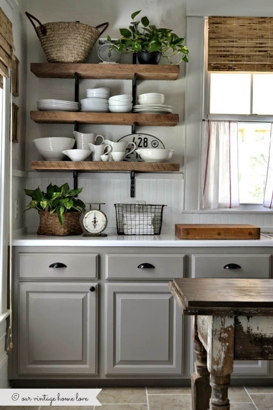Delicieux Cottage Kitchen Glam Grey Design
