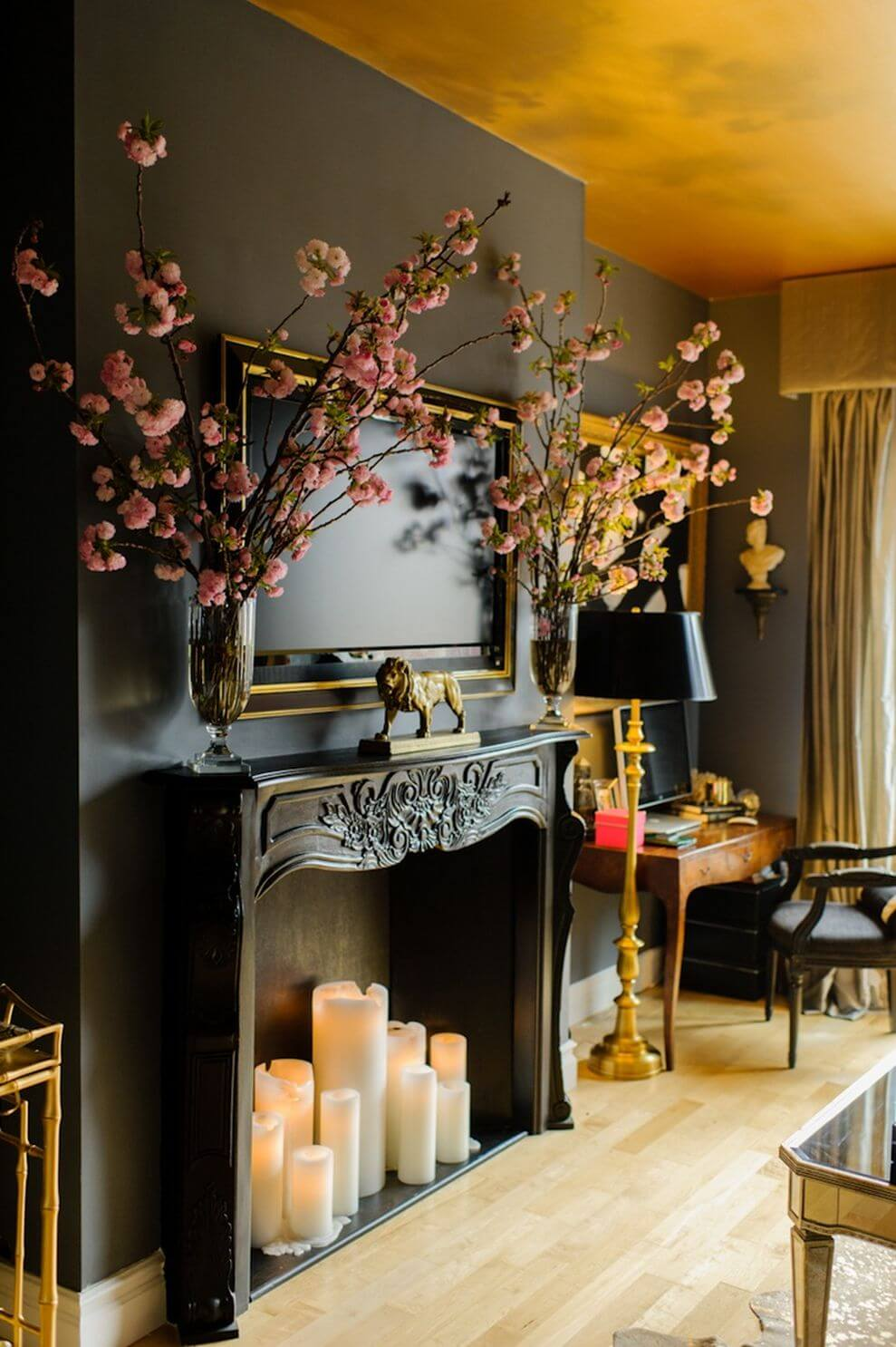 DIY Faux Fireplace with Candles & 34 Best Candle Decoration Ideas and Designs for 2018