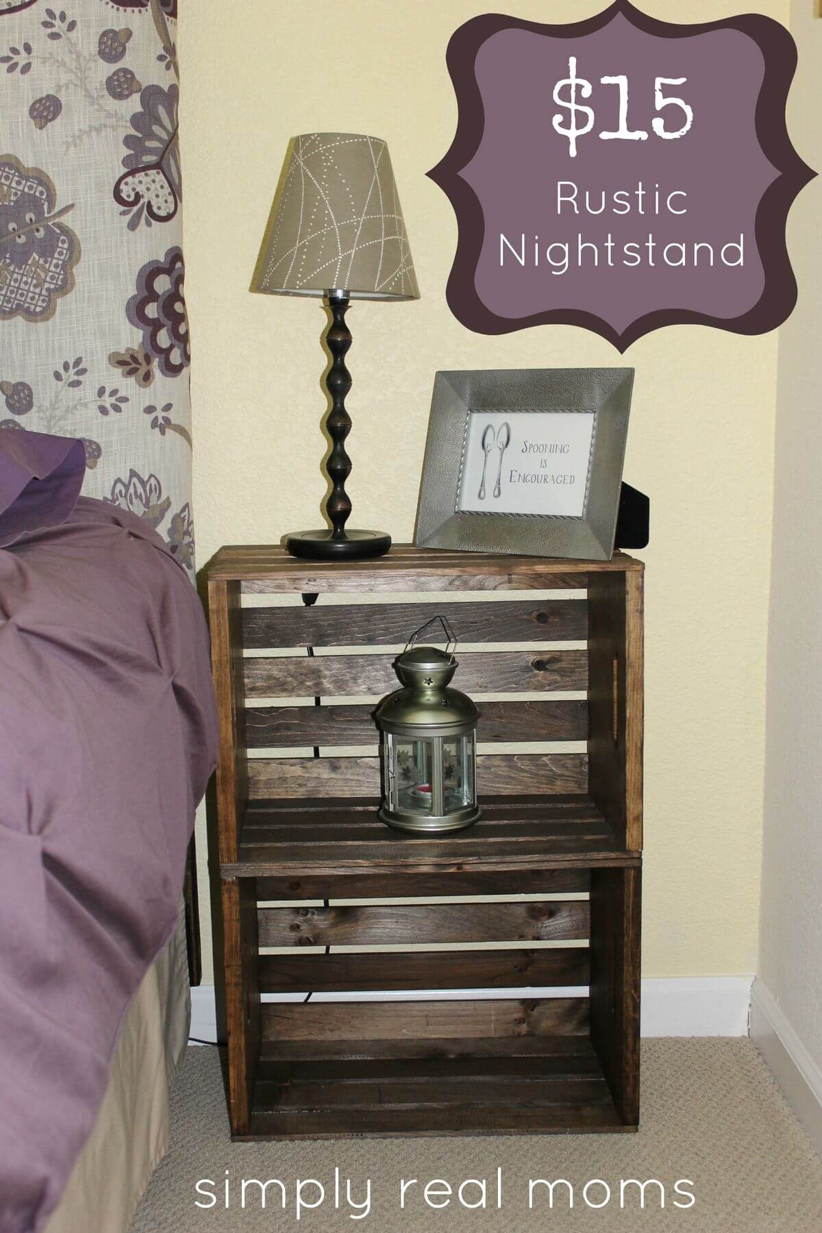 Rustic Nightstand with Extra Storage