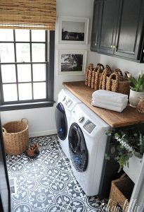 Pretty French Provincial Laundry Room