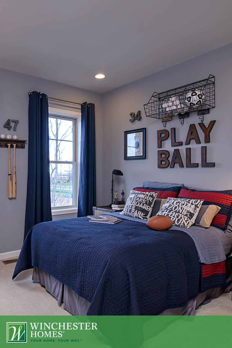 Wonderful Play Ball Sport Teenage Boy Room Theme