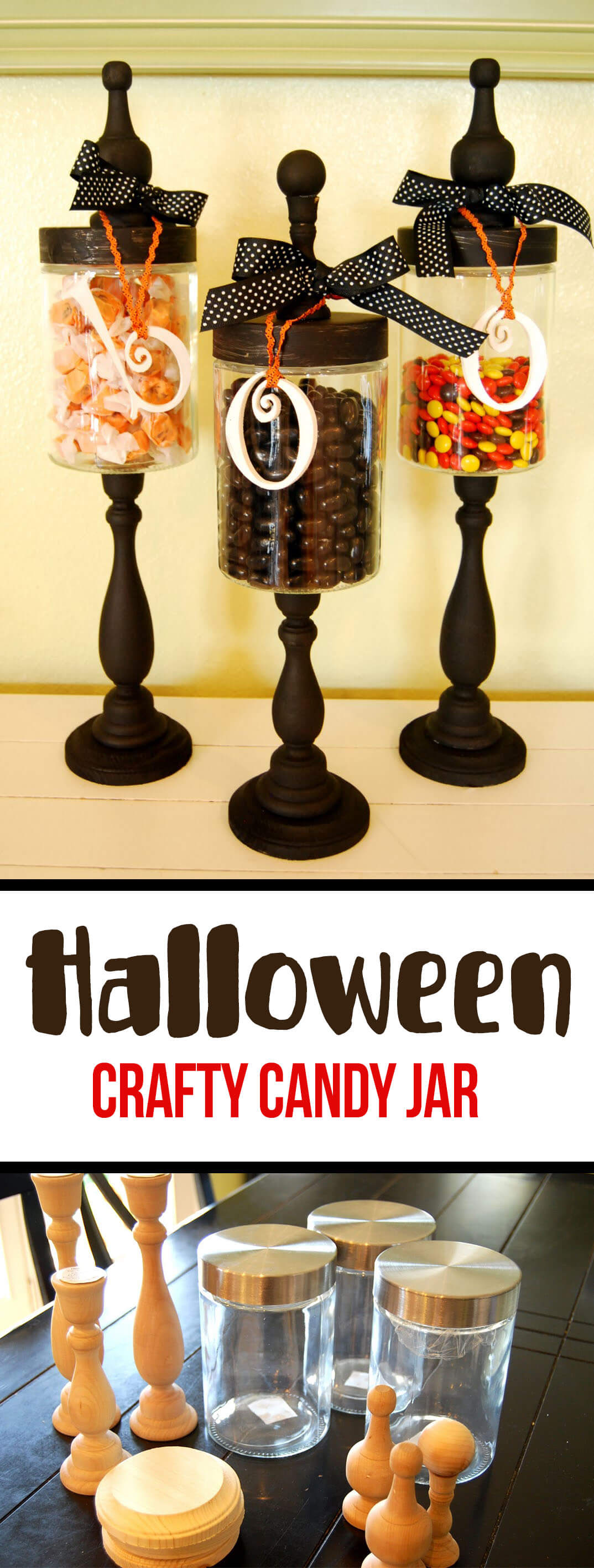 DIY Wicked Witch Storage Jars