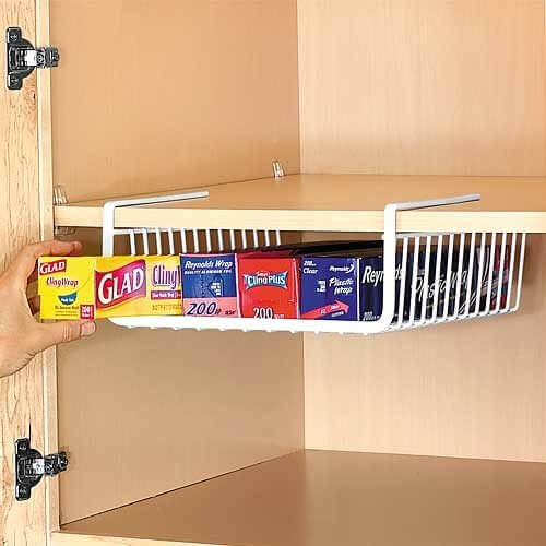 Under-Shelf Kitchen Paper and Wrap Organizer