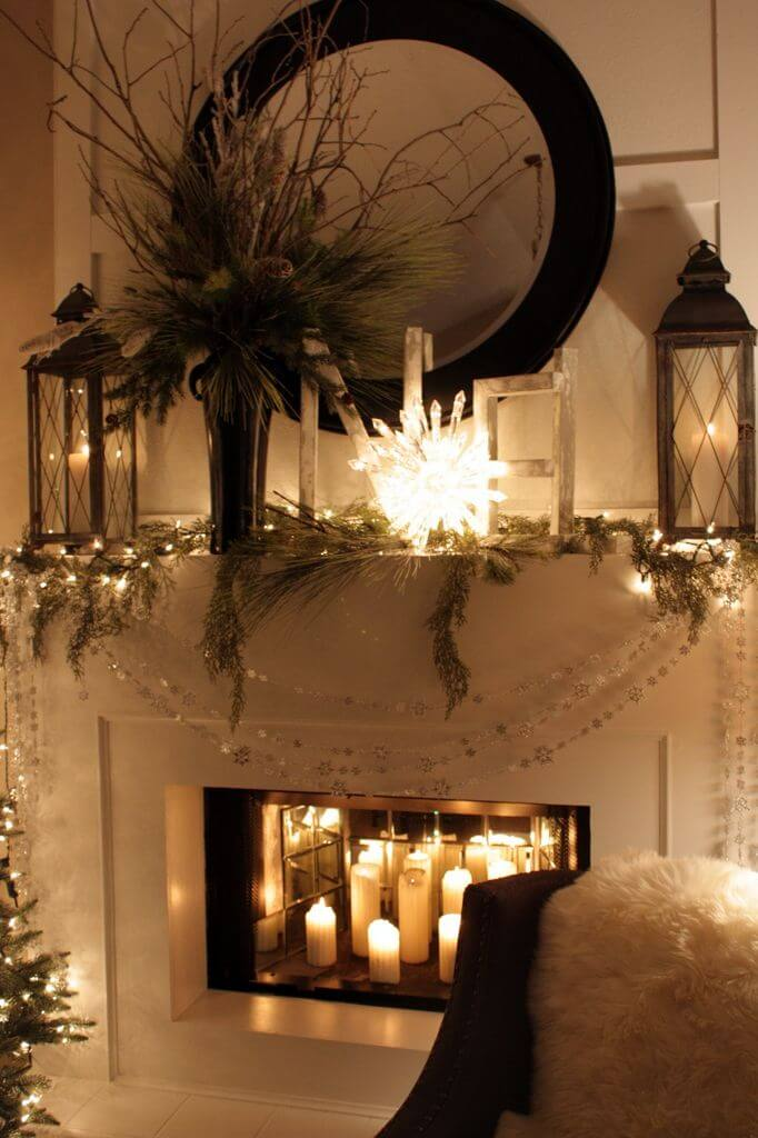 The First Noel Upon the Mantle Lantern