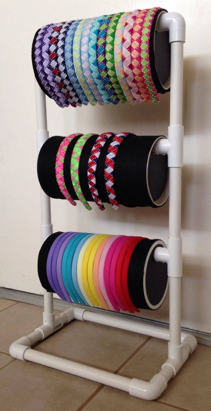 Easy Rainbow Headband Stand