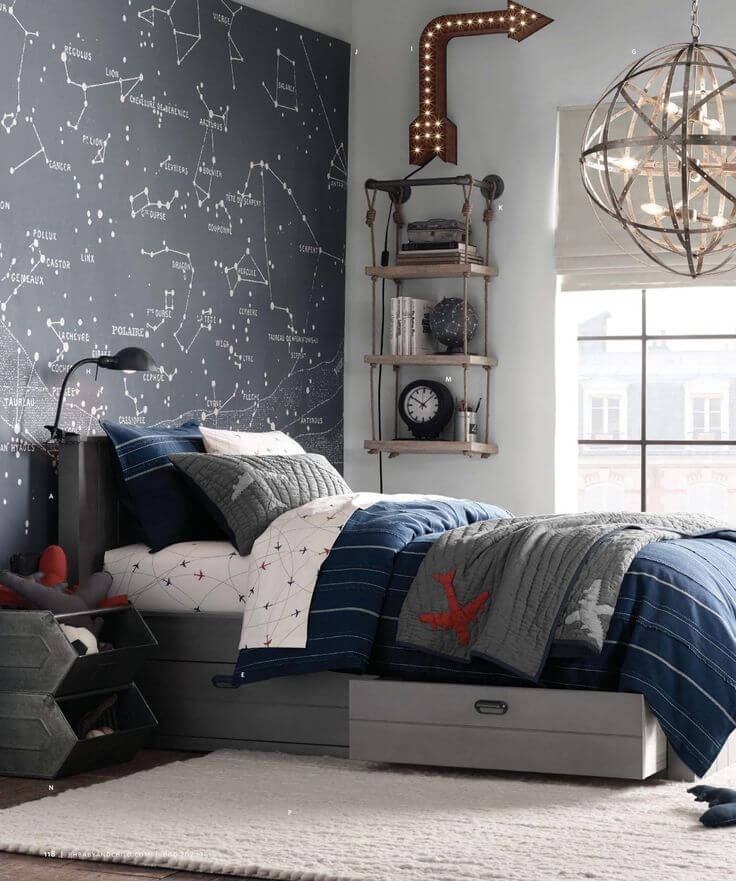 33 best teenage boy room decor ideas and designs for 2018 for Decor boys bedroom ideas