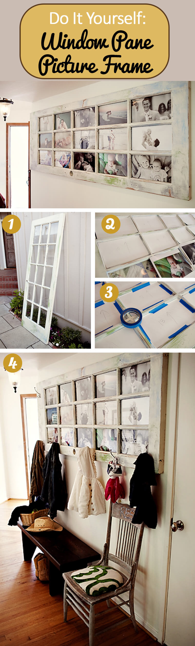 Old Doors Make the Best Picture Frames