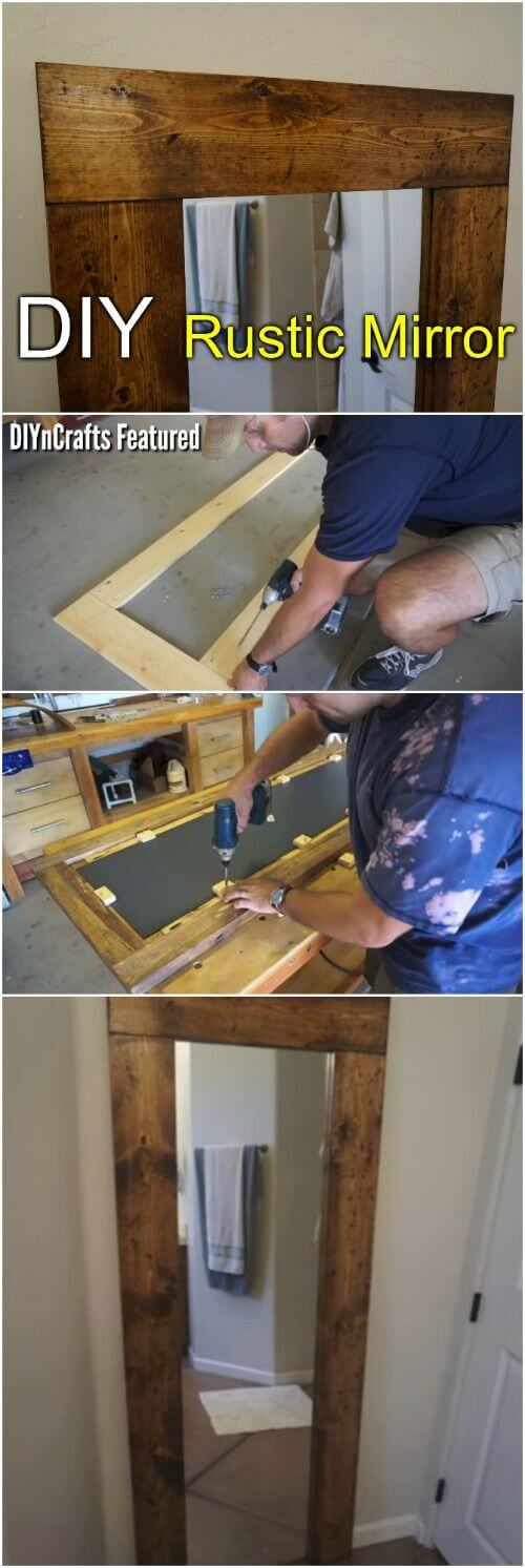Easy DIY Rustic Mirror Transformation