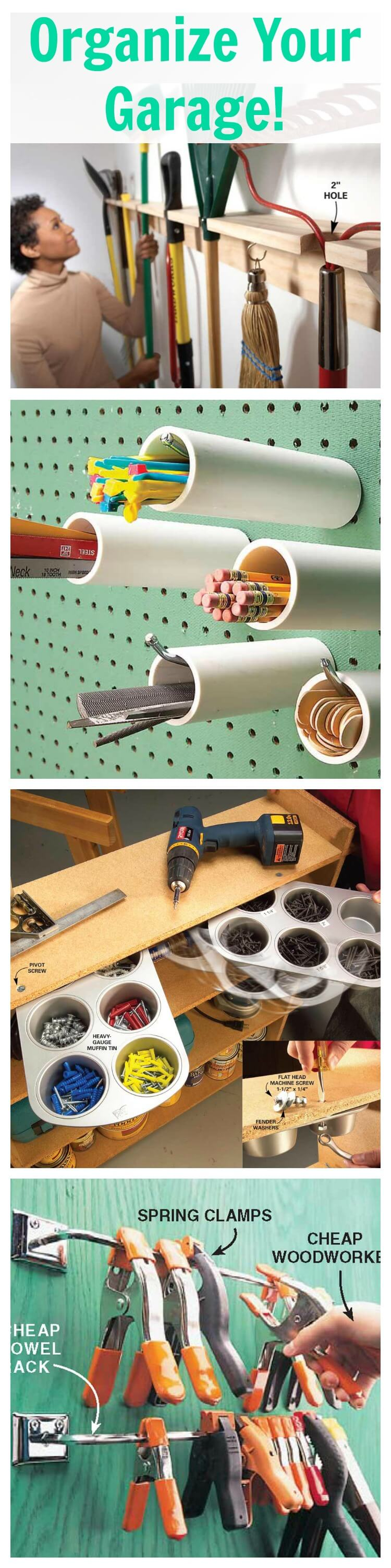 Small Hardware PVC Pegboard Modification
