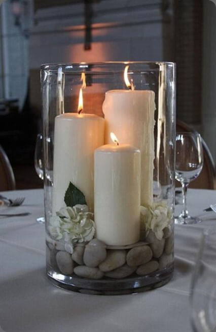 Zen Garden Candle Arrangement