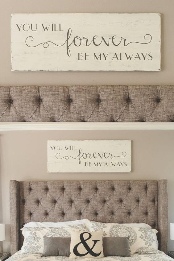 DIY Inspirational Quote Painting for Bedroom