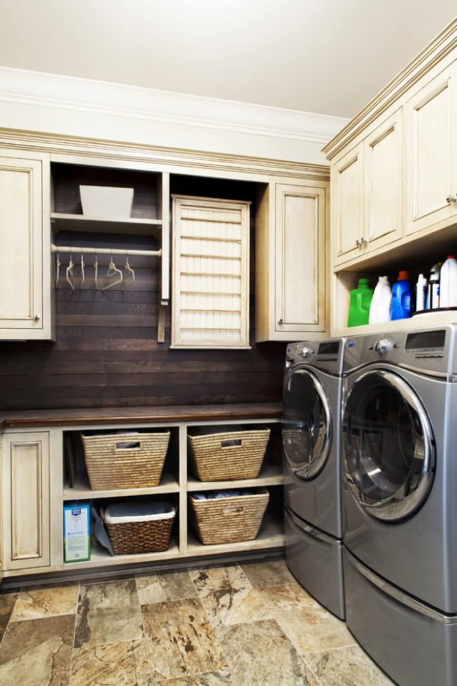 Small Laundry Room Design Ideas with Wood