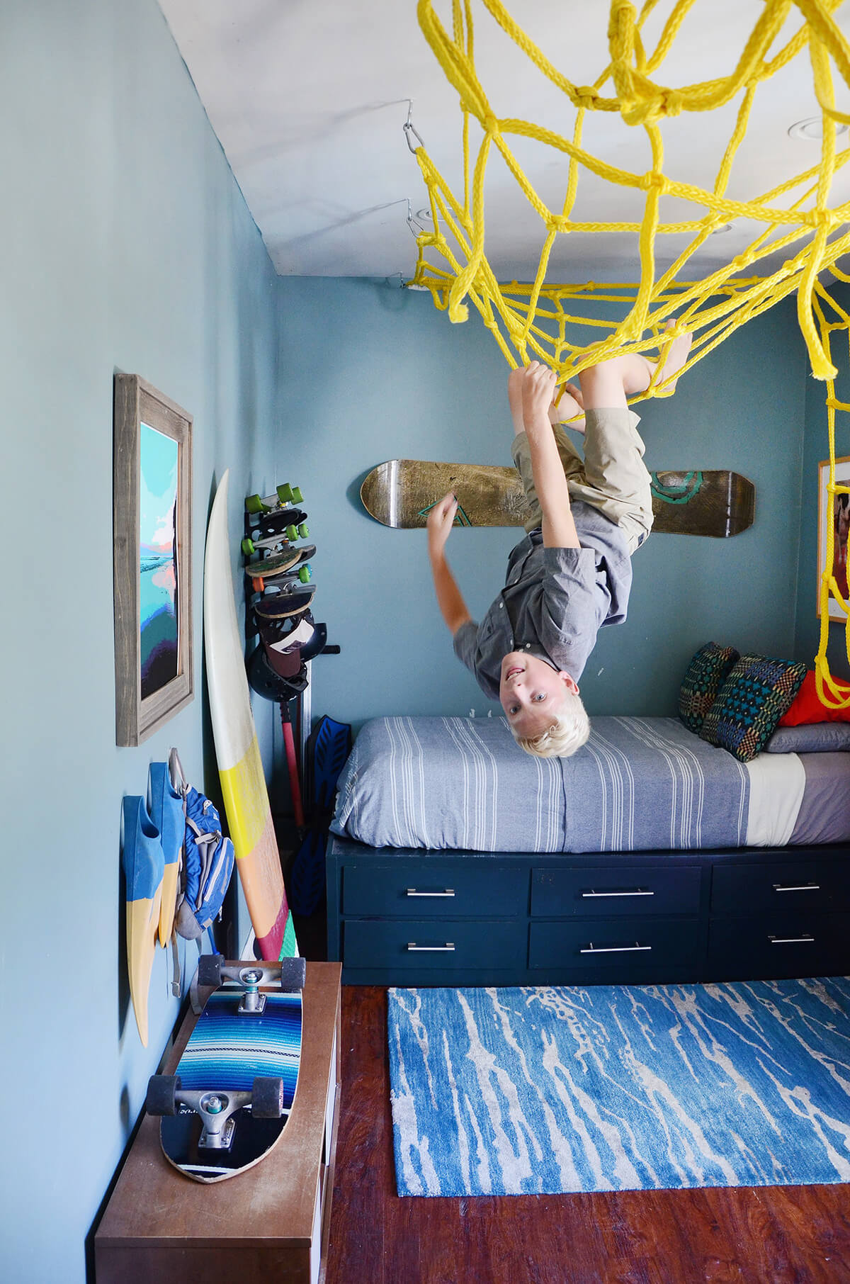 Wonderful Home Gym Concept Teen Boy Room