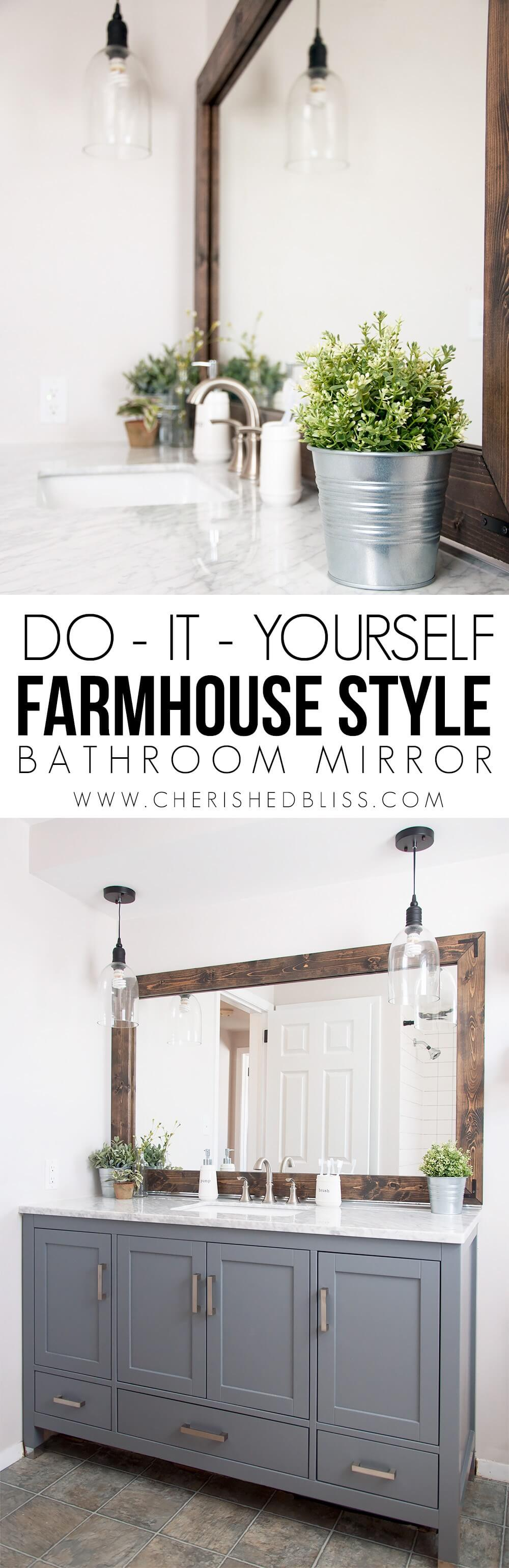 Farmhouse-style Bathroom Mirror