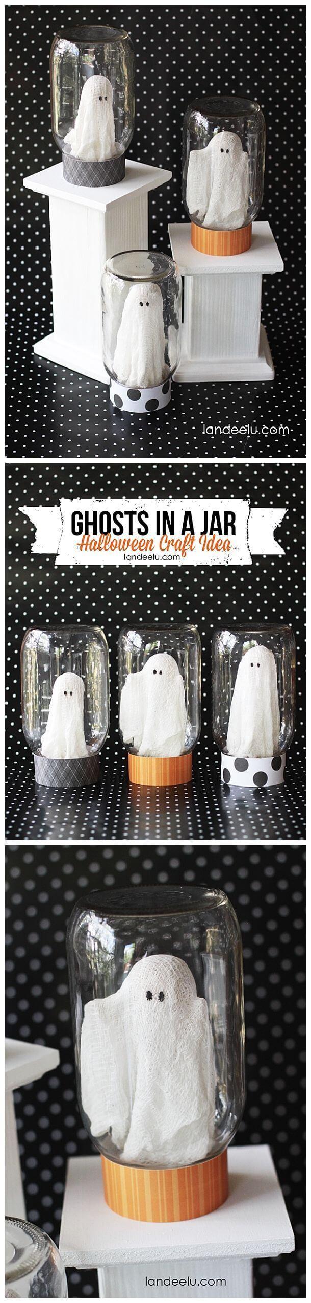 30 kreative DIY Einmachglas Halloween Crafts, um Ihren Herbst-Dekor aufzupeppen