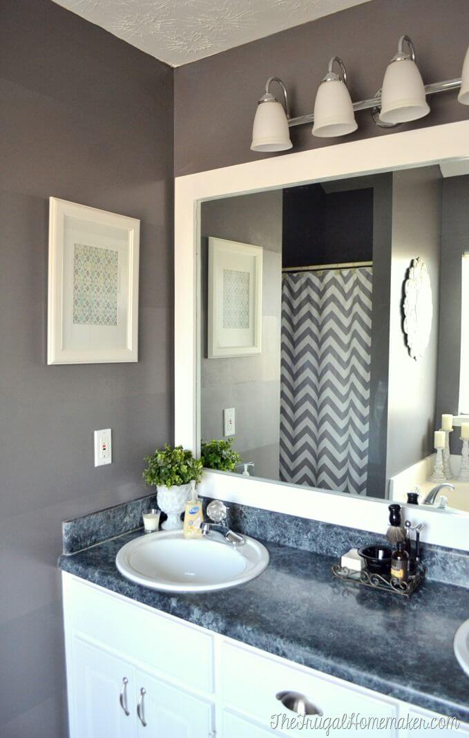Sleek and Simple Bathroom Mirror