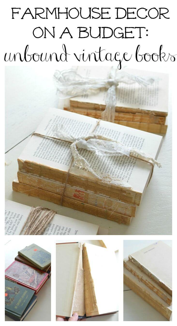 Unbound Vintage Book Decor Craft