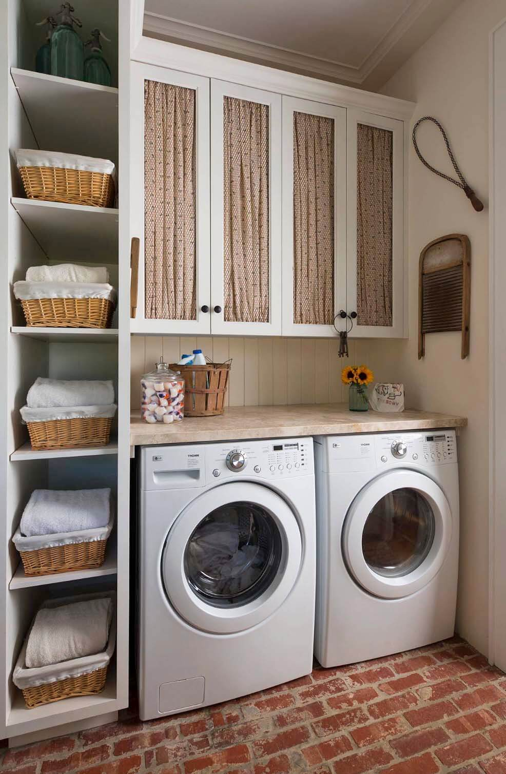 28 best small laundry room design ideas for 2018 for Patio con lavadero