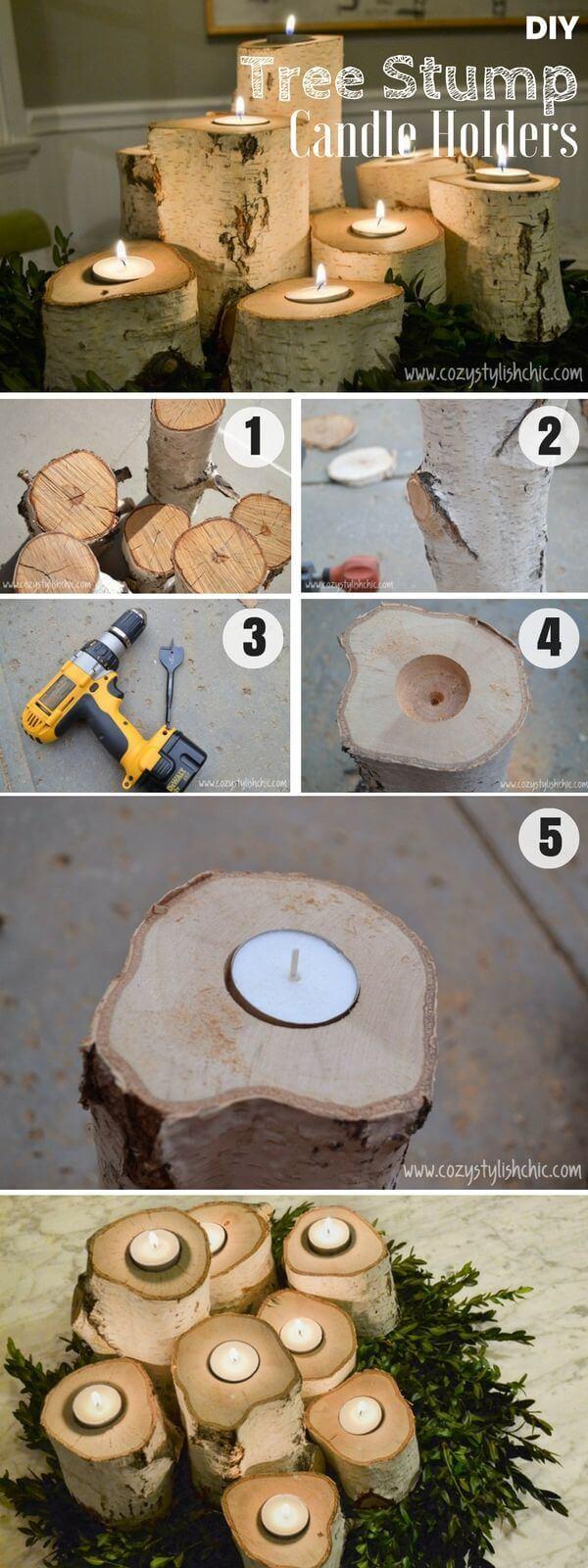 21 Crafty DIY Kerzenhalter Ideen zur Verschönerung Ihres Raumes