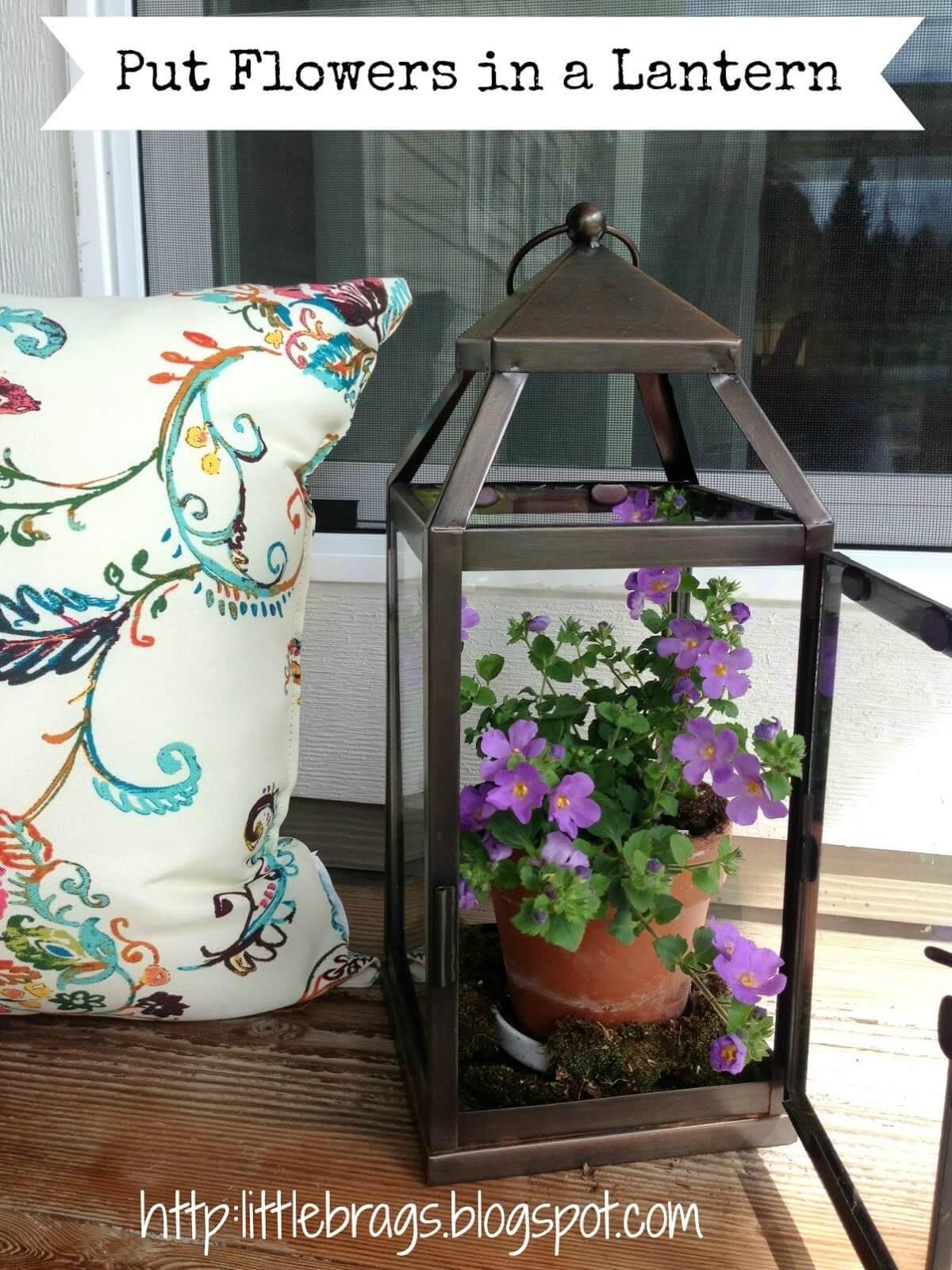 My Special Little Flowerpot Lantern