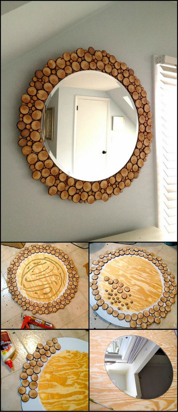 Cute Mirror Framed by Wine Corks