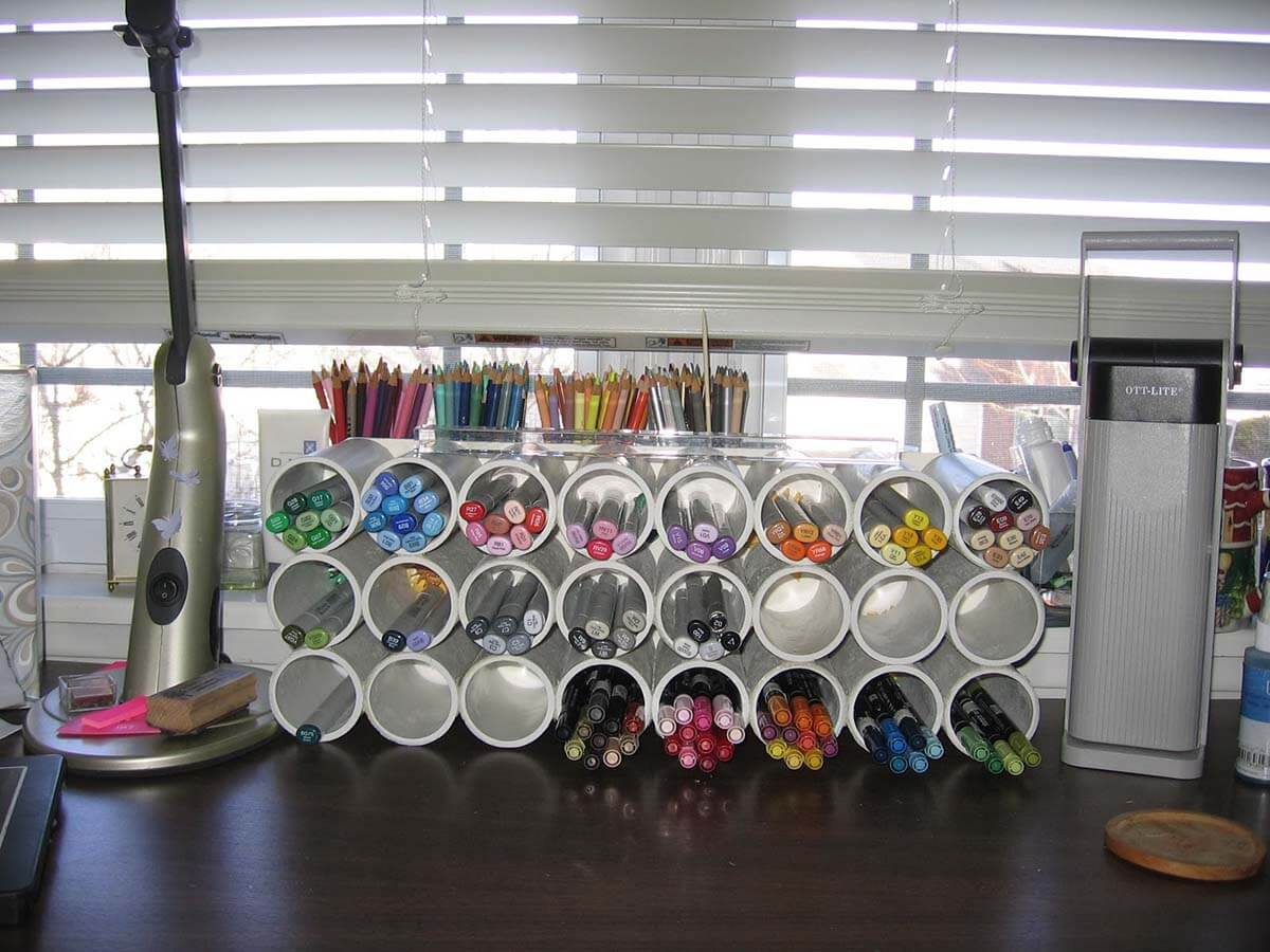 26 best pvc pipe organizing and storage projects ideas for Pvc pipe projects ideas