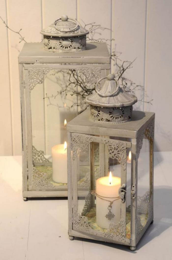 Shabby Chic Candle Lanterns