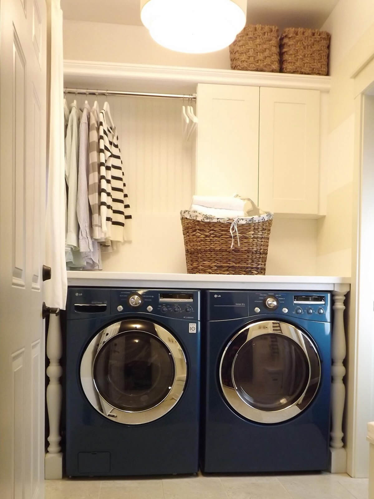 Make specialty colors pop laundry room
